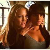 Lea Michele and Kate Hudson rehearsed a tense scene on the Glee set. Source: Instagram user msleamichele