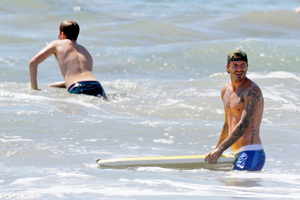 The Shirtless David Beckham Pictures You've Been Waiting For All Summer