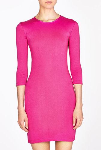 McQ Alexander McQueen Shocking Pink Jersey Bodycon Dress