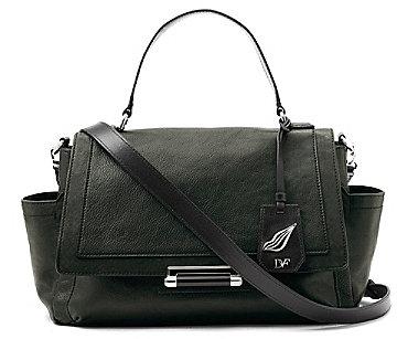 Highline Courier Leather Bag In Bottle Green