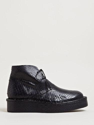 Barny Nakhle Men's Python Hi-Top Platform Shoes