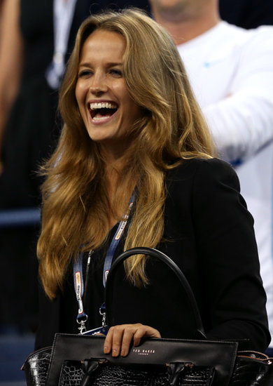 Kim Sears watched her boyfriend, Andy Murray, take on his men's singles first round match at the US Open.