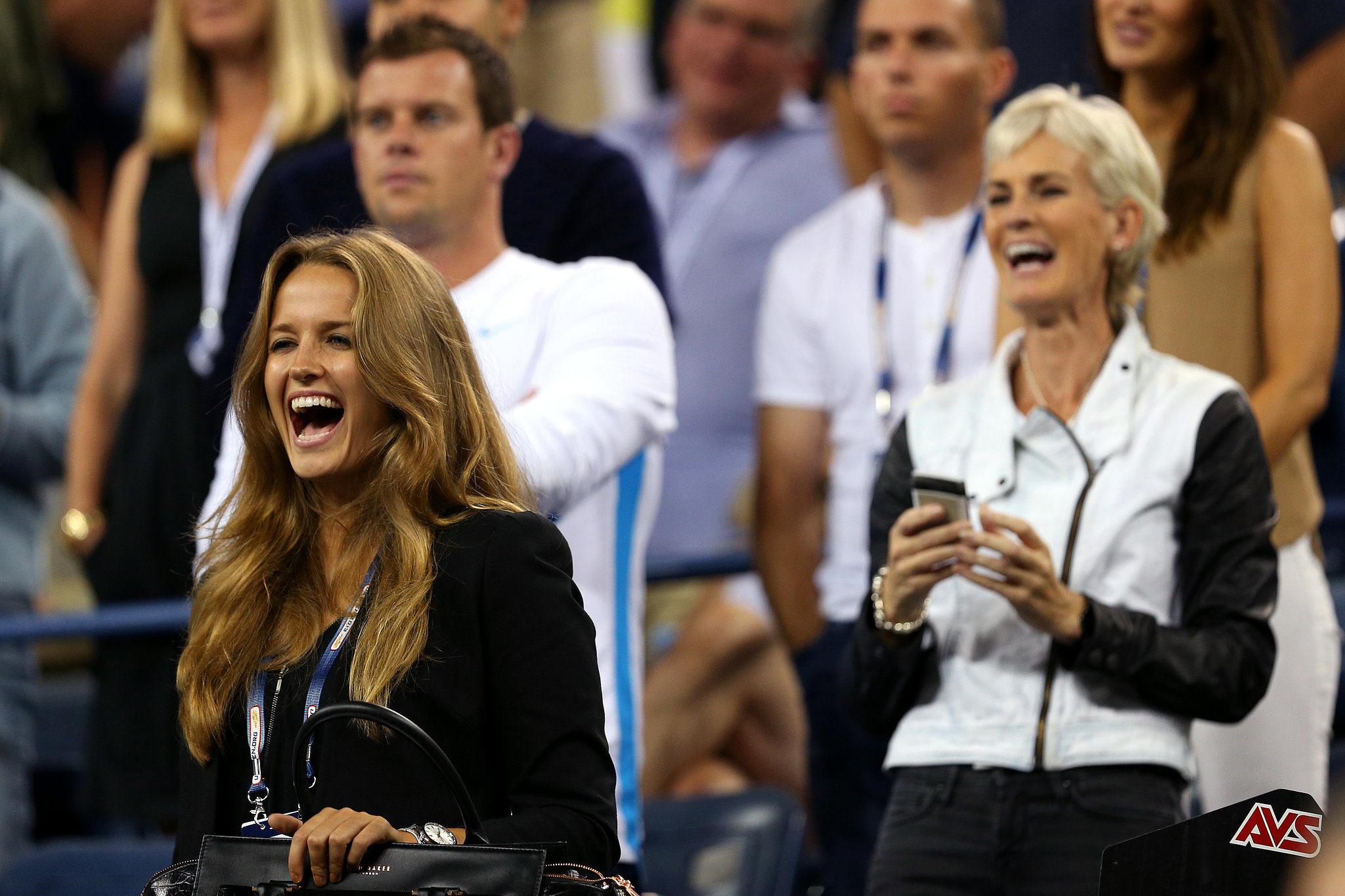 Andy Murray, of Great Britain, had his biggest fans in the stands — his girlfriend, Kim Sears, and his mom, Judy Murray.