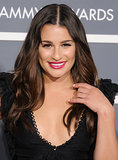 Lea went with a bold berry lip and soft waves at the 2011 Grammys.