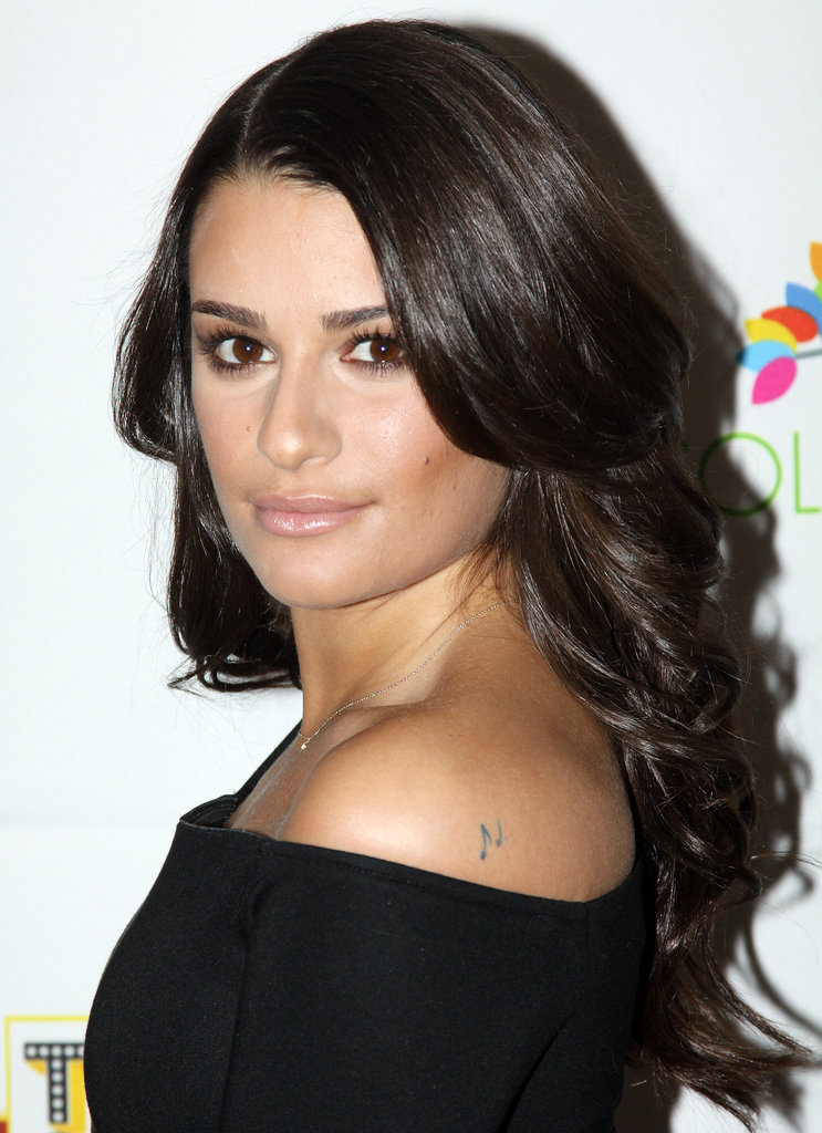 Three years later in 2009, Lea became a household name as Rachel Berry on Glee. Here she was at a Broadway event with her signature brunette waves and a neutral makeup palette.