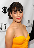 For the 2010 Tonys, Lea wore a vibrant gown, which she paired with a side chignon and a red lip.