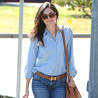 Emmy Rossum Wearing Denim on Denim