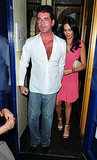 Simon Cowell and Lauren Silverman left dinner in London.