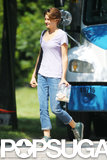 Shailene Woodley kept things casual while on the set for The Fault in Our Stars.