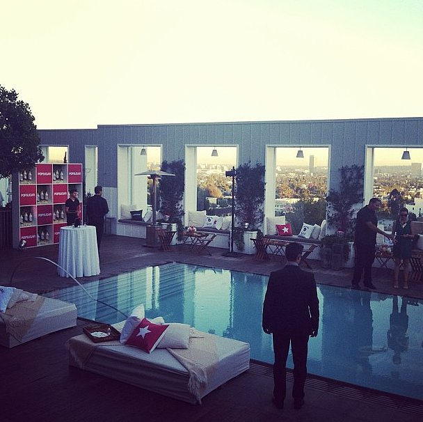 The stage was set for our Happiest Hour party in LA!