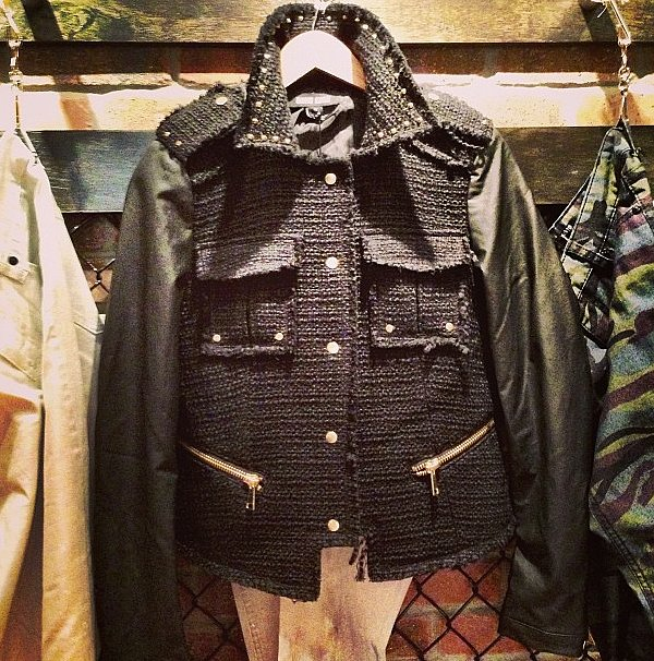 If Coco Chanel owned a motorcycle, she'd wear this David Kahn jacket on it.