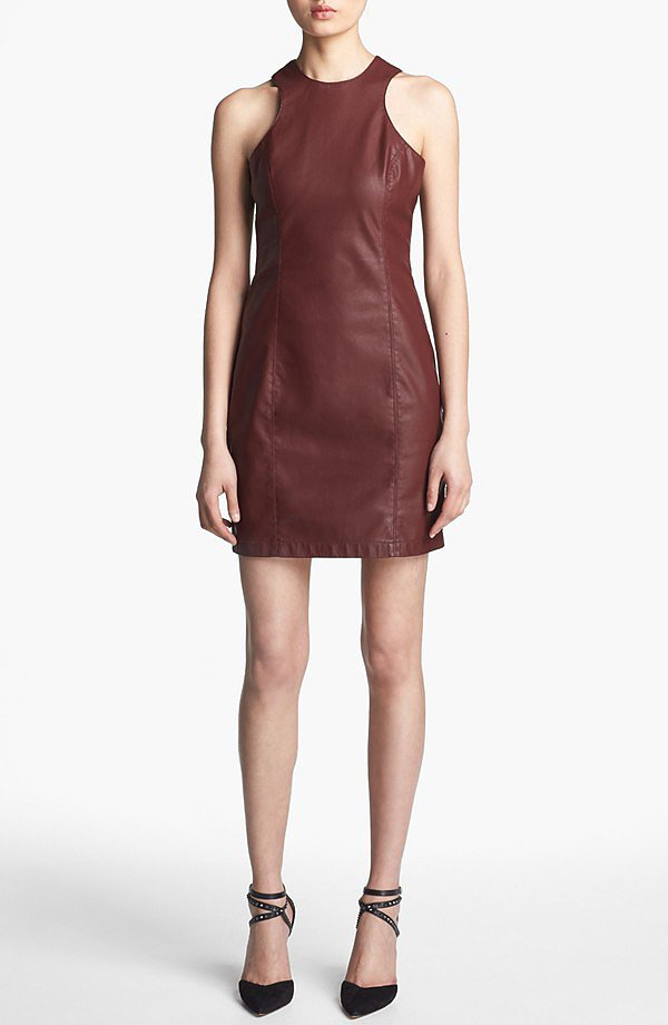 Take this professional-looking faux-leather shift ($44, originally $88) from BB Dakota into all of your most important meetings at work.