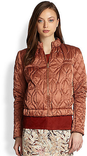 See by Chloe Quilted Bomber Jacket