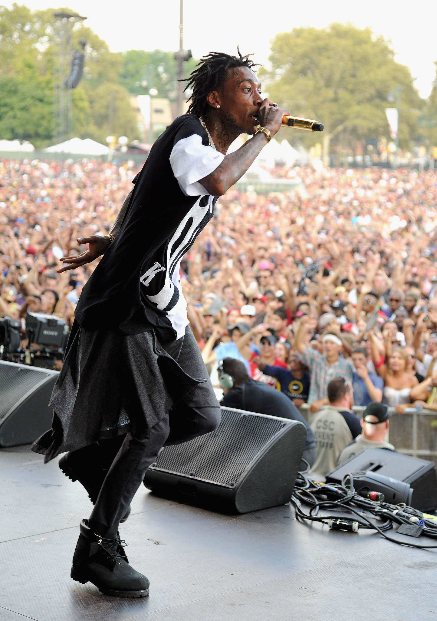 Wiz Khalifa took the stage at the Made in America Festival.