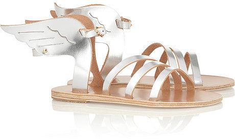Ancient Greek Sandals Ikaria metallic leather wing sandals