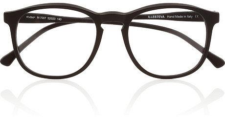 Illesteva Hudson Optical round-frame matte-acetate glasses