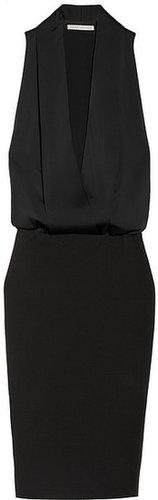 Victoria Beckham Matte-satin and crepe tuxedo-style dress