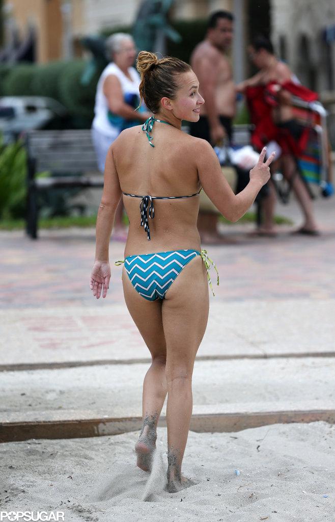 Hayden Panettiere hit the beach in Florida.