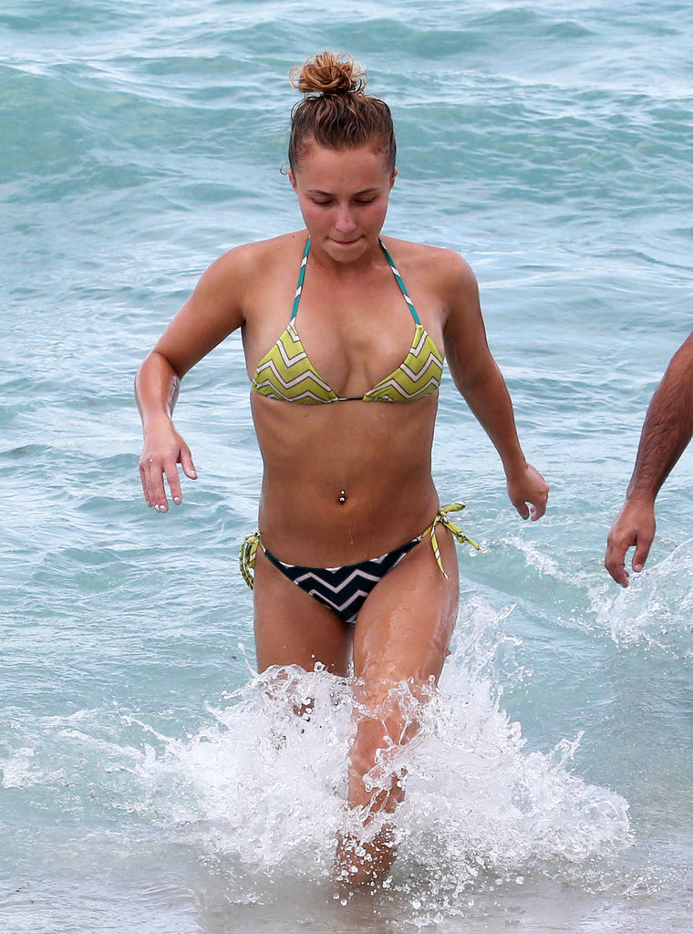 Hayden Panettiere wore a bikini during a beach vacation in Florida.