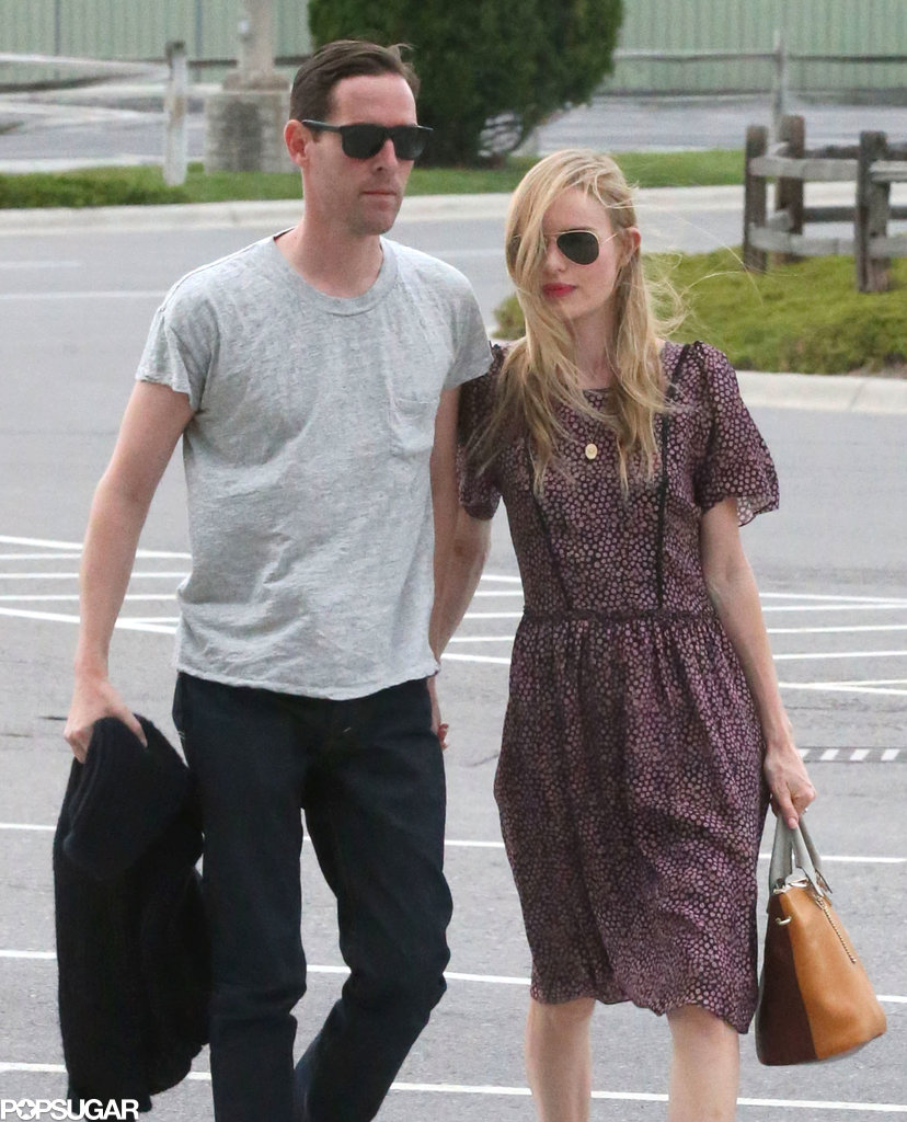 Kate Bosworth and Michael Polish got ready to leave Montana following their nuptials.