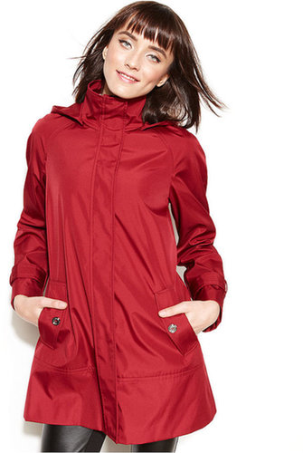 Calvin Klein Coat, Hooded Raincoat
