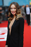 Olivia Wilde posed for pictures on the red carpet.