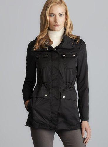 Calvin Klein Short Drawstring Waist Hooded Raincoat