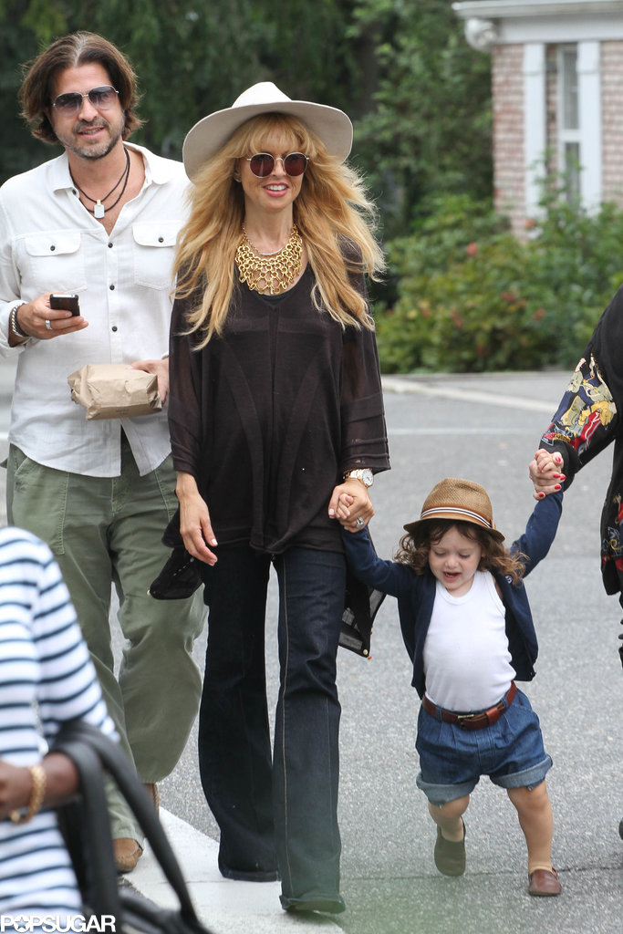 A pregnant Rachel Zoe celebrated her birthday in the Hamptons with her son, Skyler.