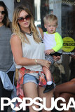 Hilary Duff had an LA shopping day with little Luca on Monday.