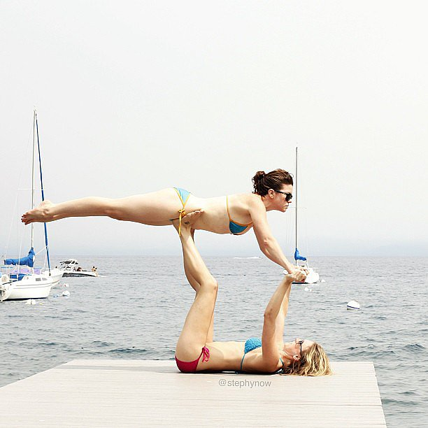 Who's going to give acroyoga a try this season? Source: Instagram user stephynow