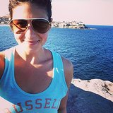 Have you done the Bondi coastal walk before? Steph Rice looking very happy after her workout. Source: Instagram user itsstephrice