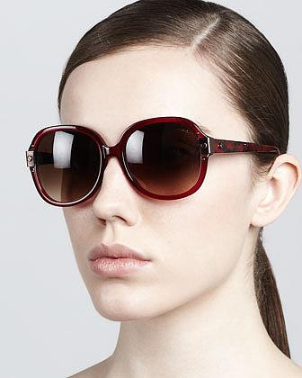 Lanvin Round Sunglasses, Red
