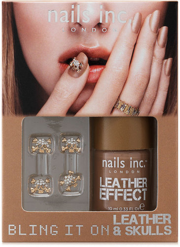 nails inc. Bling It On Leather and Skulls Tan Collection