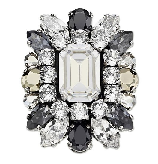 Big and bold, this brooch ($150) is perfect to pin on a denim button-down for an ironic twist.