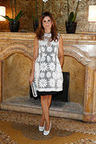 Livia Firth looked lovely in a flower print while attending Chopard's Venice Film Festival event.