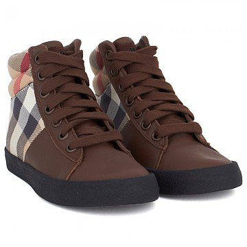 Burberry Nova Check Hi-Top Sneakers