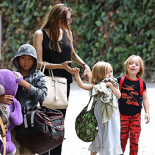 Angelina Jolie With Pax and the Twins on Labor Day 2013