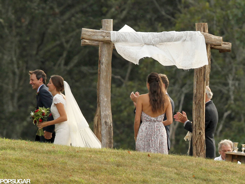 Seth Meyers married Alexi Ashe in Martha's Vineyard.