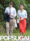 Olivia Munn and Will Forte made their way to Seth Meyers's wedding in Martha's Vineyard.