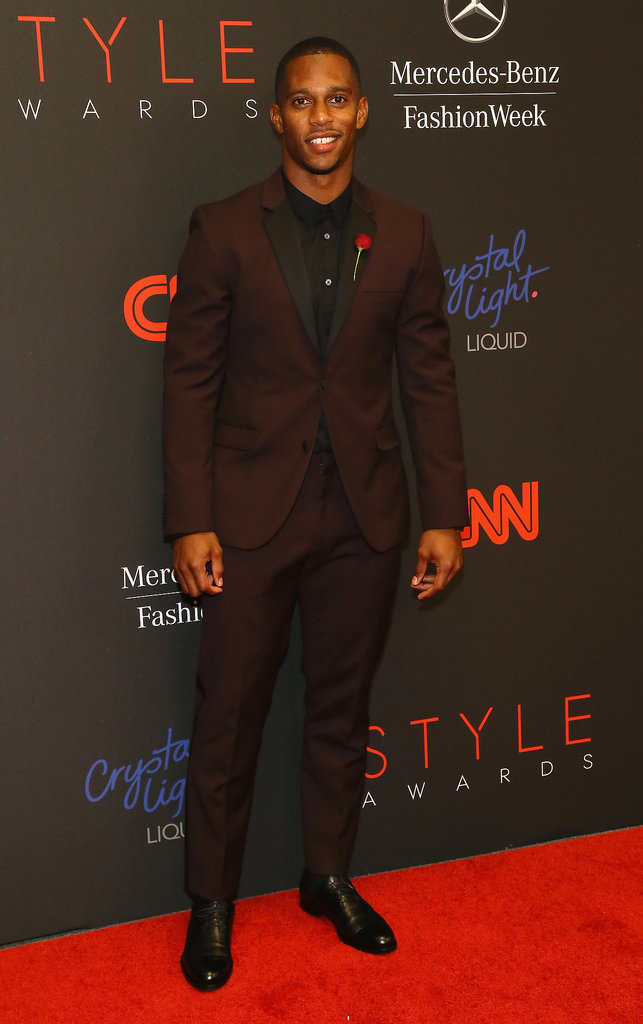 NFL player Victor Cruz hit the red carpet.