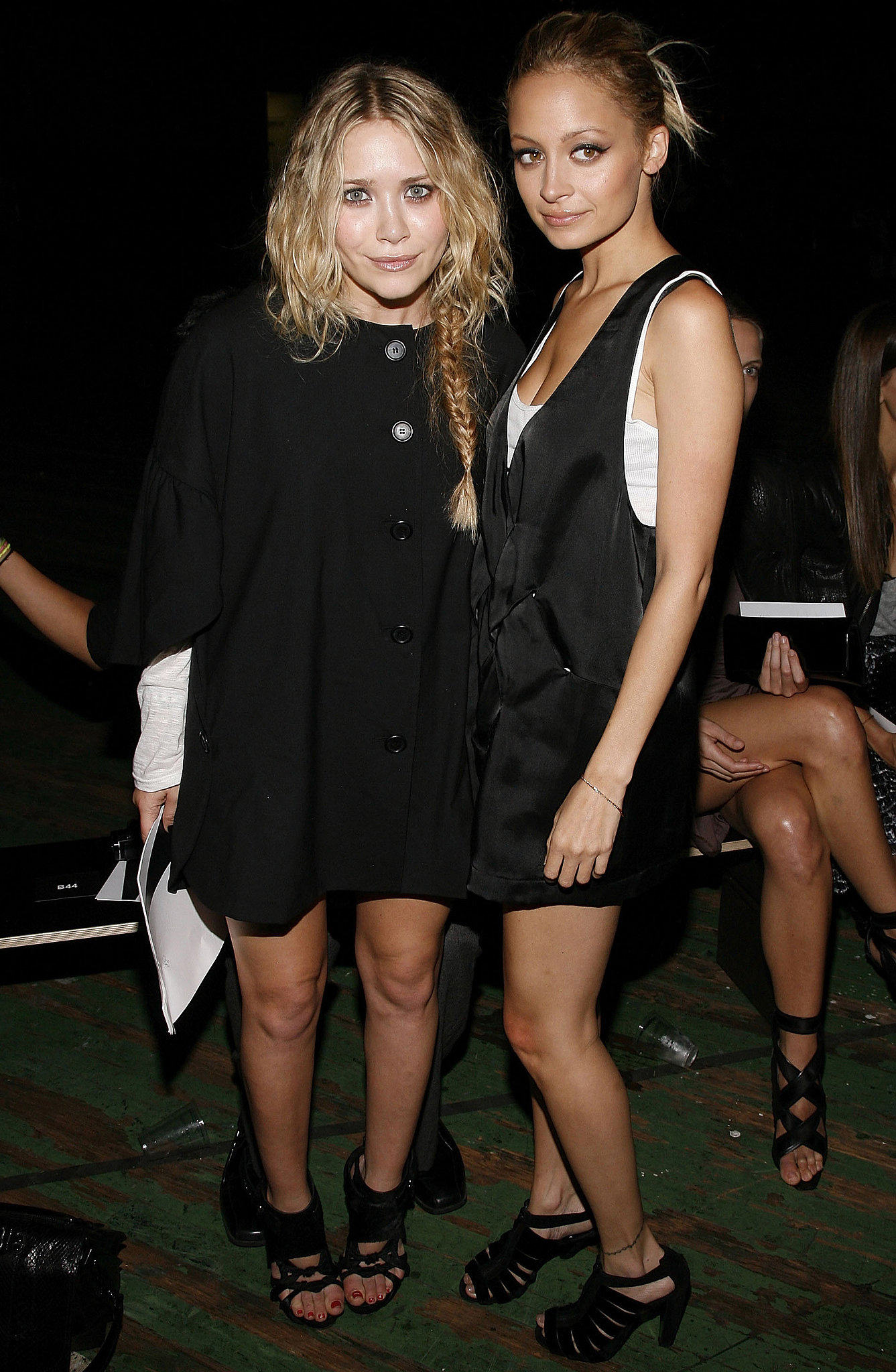 Mary-Kate Olsen and Nicole Richie linked up to sit front row at Proenza Schouler's February 2009 show.