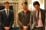 The Mindy Project Anders Holm, Ike Barinholtz, and Ed Weeks on The Mindy Project.