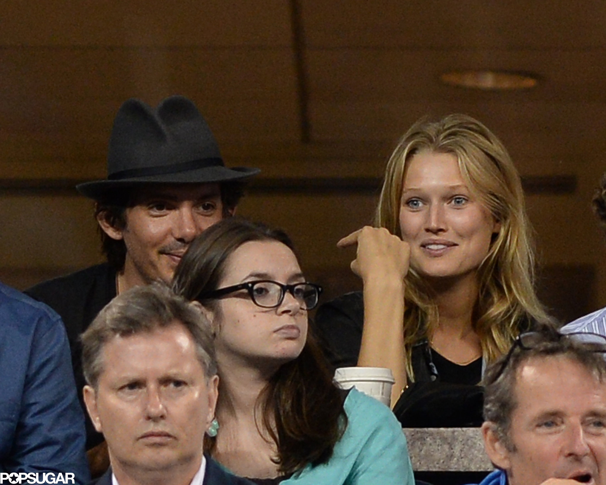 Lukas Haas sat next to Leonardo DiCaprio's girlfriend, Toni Garrn.