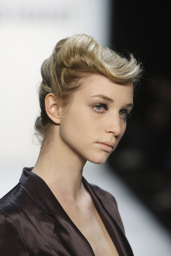 At the Fall 2010 Stefan Eckert show, models sported a modern take on the victory roll with a quiff-like flick thrown in for good measure.