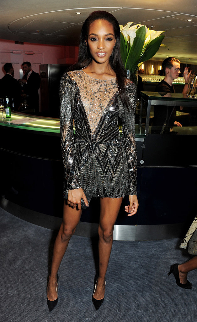 Later in the evening, Jourdan Dunn made a quick change into something shorter at the event's afterparty.