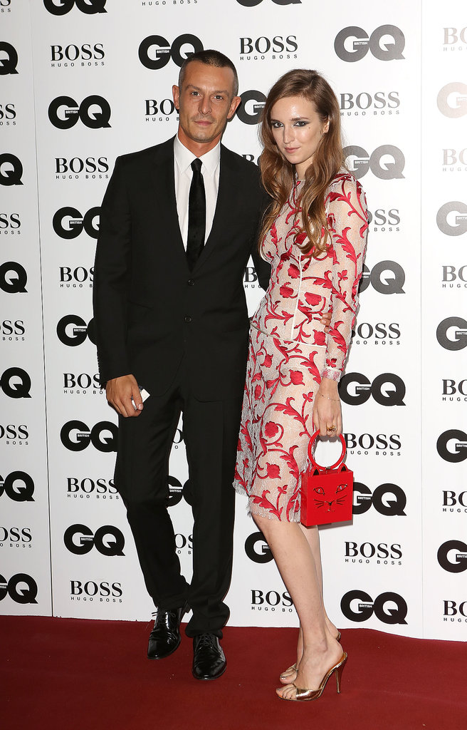 Jonathan Saunders was joined by a floral Valentine Fillol Cordier at last night's GQ Men of the Year Awards.