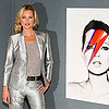 Kate Moss in a Silver Suit at Christie's Photo Auction