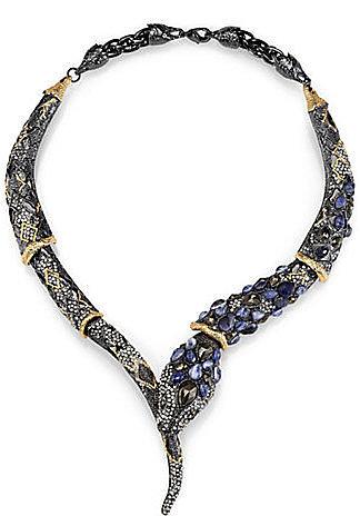 Alexis Bittar Semi-Precious Multi-Stone Snake Necklace