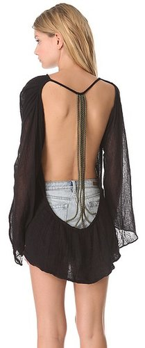 Jen's pirate booty Grecian Expression Backless Tunic