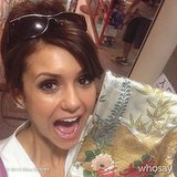Nina Dobrev picked up her first-ever kimono for a trip to Tokyo. Source: Nina Dobrev on WhoSay